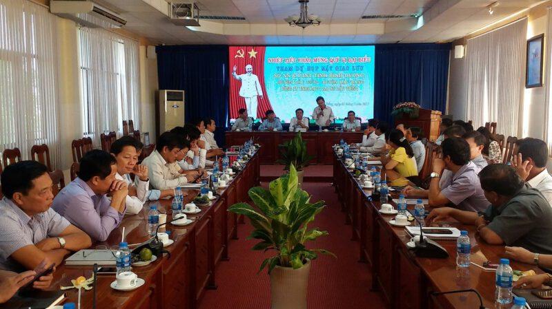 Hình 3: Ông Nguyễn Cảnh Dần - Phó giám đốc Sở Nông nghiệp và Phát triển Nông thôn tỉnh Bình Dương phát biểu trao đổi với lãnh đạo các đơn vị