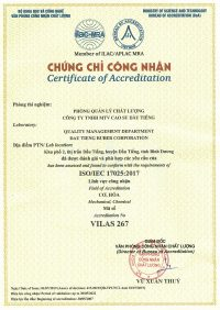 Certificate ISO 17025 2005 MRA