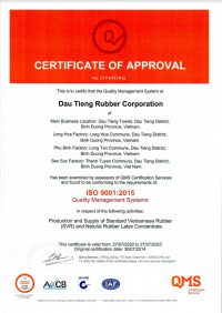 Certificate ISO 9001 2015 QMS